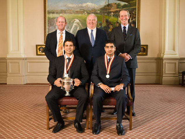 Simon Hughes, Mark Lawrence, Brian Thornton, Vikram Solanki and Anand Ashok