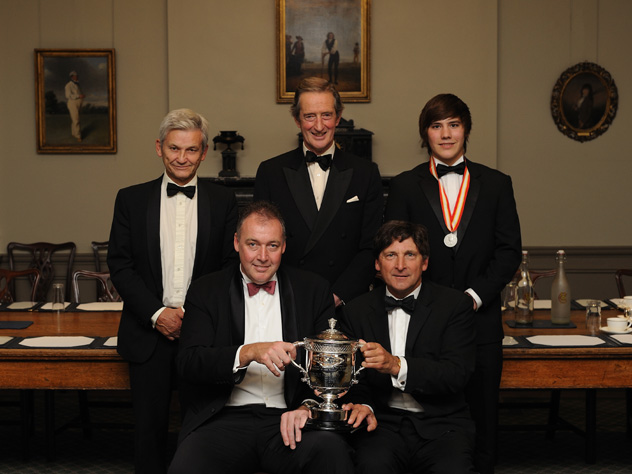 Mike Griffith, Brian Thornton, Rory Burns, Angus Fraser and John Barclay