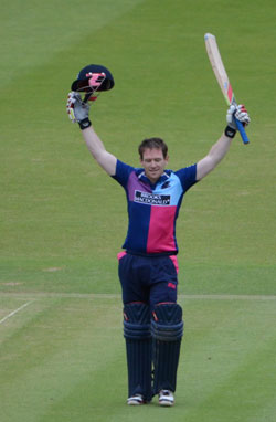 Eoin Morgan, Middlesex v Lancashire, Clydesdale Bank 40, Sunday 10th June 2012, LORD'S