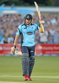 Scott Styris, Sussex v Gloucestershire, Friends Life t20 quarter final, Wednesday 25th July 2012, Hove