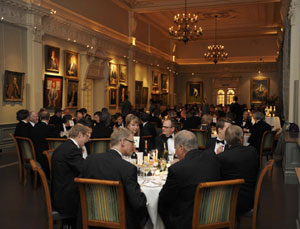The Walter Lawrence Trophy Presentation Dinner in The Long Room at Lord's