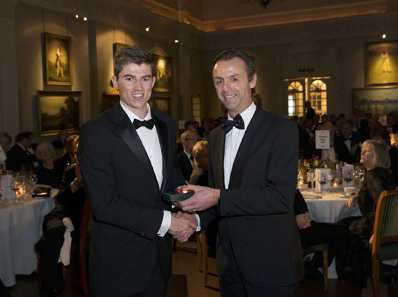 Leeds story: MCC Universities Award winner Martin Andersson receives a special medallion and a cheque for £500 from MCC Cricket Secretary John Stephenson.