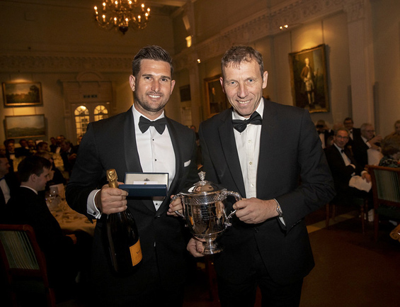 Cameron Delport, pictured receiving the Walter Lawrence Trophy and spoils from Mike Atherton, later reflected: 'It was a huge honour to receive the 2019 Walter Lawrence Trophy at Lord's, the Home of Cricket, and to be part of a great celebration with MCC members and friends of  cricket in the UK. To have my name on the Trophy is very humbling, as many of the past winners have been my heroes'.