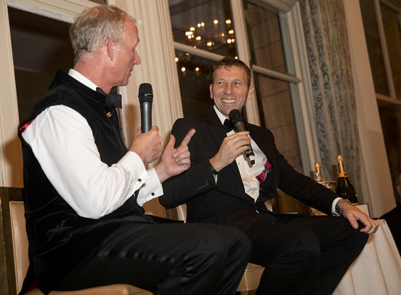 Taking the Mike! Host, Matthew Fleming, puts the questions to former England skipper and guest speaker, Mike Atherton.